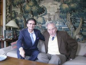 Le Prof. Dr. Meyer avec le Prof. Dr. Gabriel Richet, petit-fils du Prof. Dr. Charles Richet Académie de Médecine, Paris, France